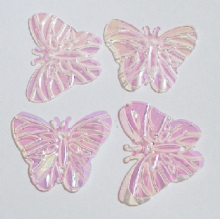 DISCONTINUED 22mm Pale Pink Iridescent Butterfly Sequins x 150